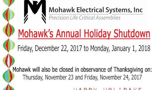 Mohawk announces 2017 winter shutdown