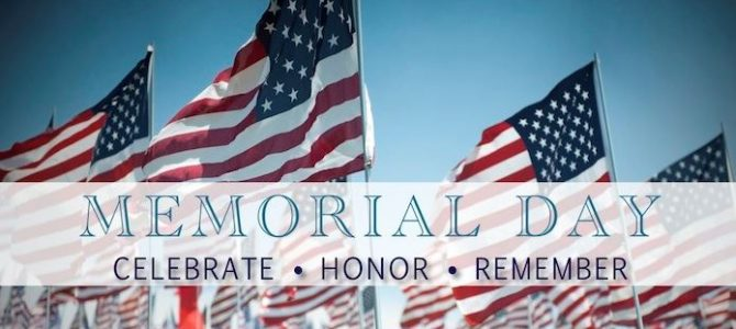 Plant and office closed for Memorial Day 2018
