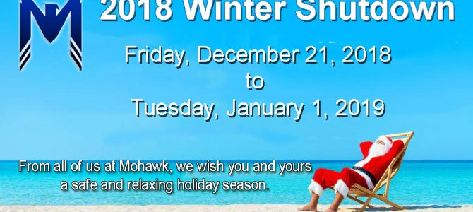 Happy Holidays from Mohawk Electrical Systems, Inc.