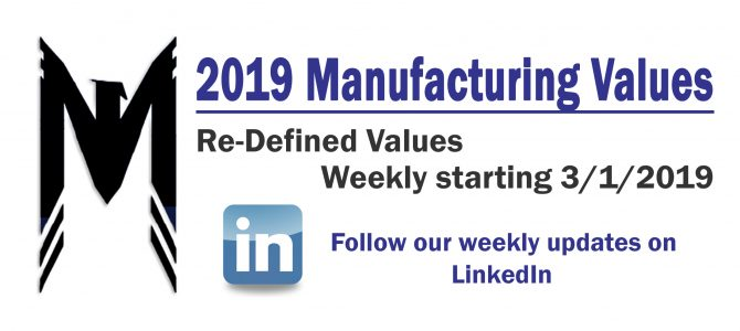 New Manufacturing Value Roll-Out 2019